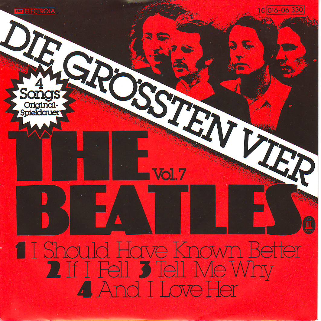 BEATLES (EP) - I Should Have Known Better And If I Fell