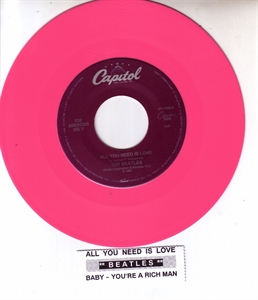 Picture of BEATLES - ALL YOU NEED IS LOVE (PINK VINYL)